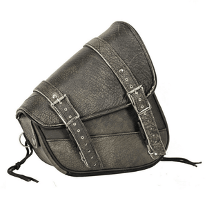 Genuine Distressed Brown Leather Right Side Swing Arm Bag - Stofma  Hub