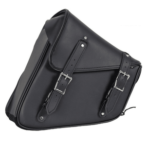 Black PVC Solo Swing Arm Bag - Left Side - Stofma  Hub