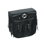 Leather Motorcycle Sissy Bar Bag With Fringes, & Concho - Stofma  Hub