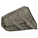 Distressed Brown Leather Swing Arm Bag - Right Side - Stofma  Hub