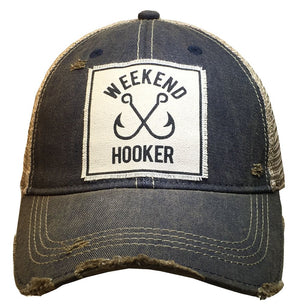 """Weekend Hooker"" Distressed Trucker Cap - Stofma  Hub"