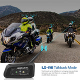 2PCS Lexin R6 Motorcycle Bluetooth Helmet Headsets Intercom for 6 riders BT Wireless intercomunicador Interphone MP3 - Stofma  Hub