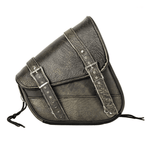 Genuine Distressed Brown Leather Right Side Swing Arm Bag