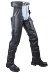 Braided Split Leather Chaps W/ Mesh & Zipout Lining - Black - Stofma  Hub
