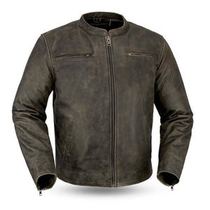 Drifter | Distressed Cowhide Armored Jacket - Stofma  Hub