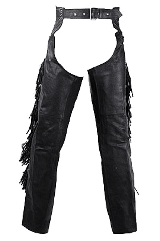 Women's Chaps With Studs, Beads, and Fringe