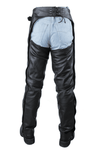 Black Multi-Pocket Split Leather Chaps - Stofma  Hub