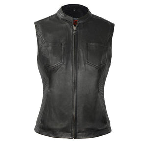 Envy | Women's Diamond Leather Vest - Stofma  Hub