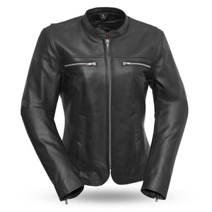 Roxy | Women's Lightweight Cafe Style Leather Jacket