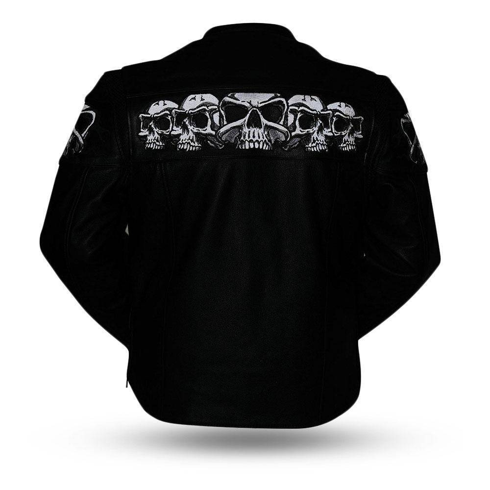 Savage Skulls | Soft Milled Reflective Skulls Armored Jacket
