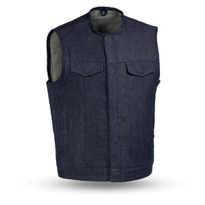 Haywood | Men's Rough Neck Denim Vest - Stofma  Hub