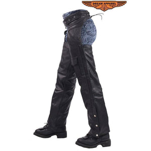 Leather Braided Motorcycle Chaps - Stofma  Hub