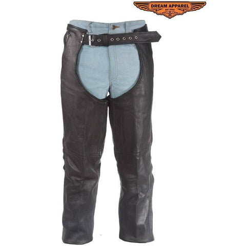 Leather Chaps With 3 Pockets & Mesh Lining - Stofma  Hub