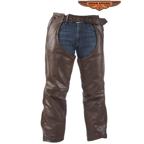 Brown Leather Chaps With Removable Liner - Stofma  Hub