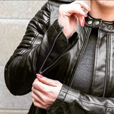Biker | Black Quilted Riding Jacket