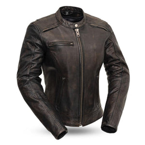 Trickster | Women's Leather Motorcycle Jacket - Stofma  Hub