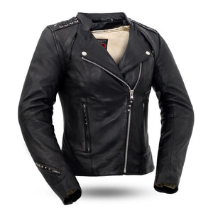Black Widow | Women's Leather Motorcycle Jacket - Stofma  Hub