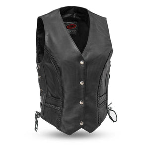Trinity | Women's Soft Milled Cowhide Leather Vest - Stofma  Hub