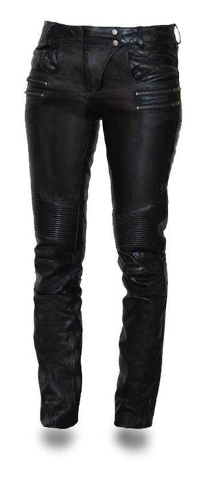 Vixen | Women's Light Aniline Cowhide Leather Pants