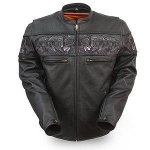 Savage Skulls | Soft Milled Reflective Skulls Armored Jacket - Stofma  Hub