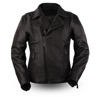Night Rider | 1.4mm Platinum Leather Jacket - Stofma  Hub