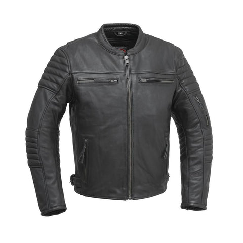 Commuter | 1.2mm Vintage Leather Jacket - Black
