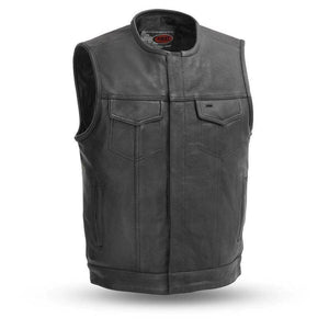 No Rival | Men's 1.2mm Drum Dye Naked Cowhide Leather Vest - Stofma  Hub