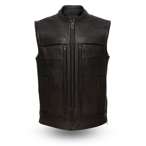 Rampage | Men's 1.4mm Platinum Cowhide Leather Vest - Stofma  Hub