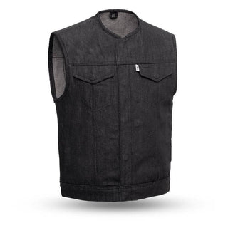 Murdock | Men's Rough Neck Raw Denim Vest - Stofma  Hub