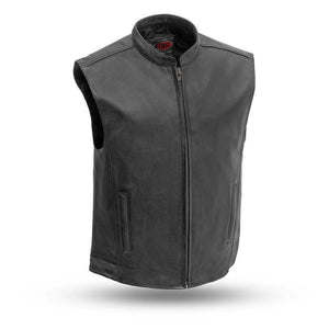 Club House | Men's 1.2mm Drum Dye Naked Cowhide Leather Vest - Stofma  Hub