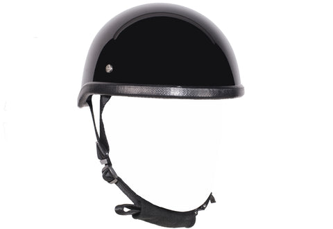 Image of Gloss Black Motorcycle Novelty Skull Cap Helmet | Novelty