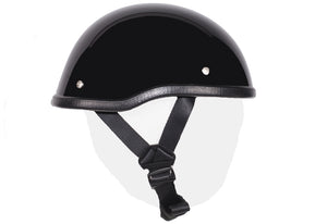 Gloss Black Motorcycle Novelty Skull Cap Helmet | Novelty