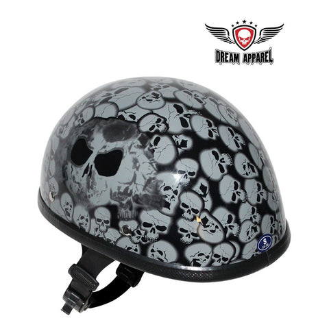 Gray Boneyard Eagle Novelty Helmet with Skulls | Novelty