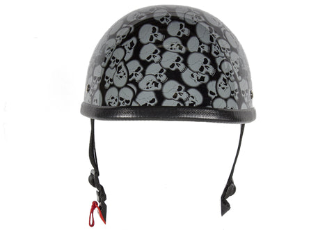 Image of Gray Boneyard Eagle Novelty Helmet with Skulls | Novelty
