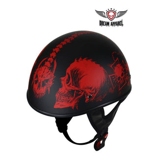 Flat Black DOT Helmet with Horned Skeletons - Stofma  Hub