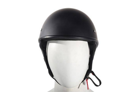 Flat Black DOT Approved Motorcycle Helmet - Stofma  Hub