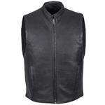 Mens Leather Motorcycle Club Style Vest - Stofma  Hub