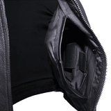 Mens Leather Motorcycle Vest With Two Deep Gun Pockets - Stofma  Hub