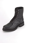 Wide Biker Boots With Laces Up Front - Stofma  Hub