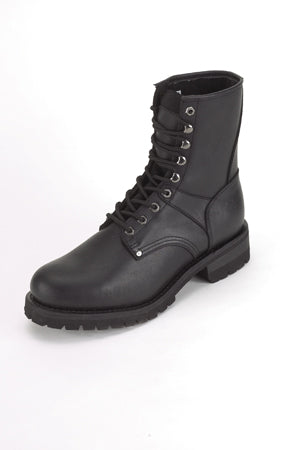 Biker Boots With Laces Up Front - Stofma  Hub