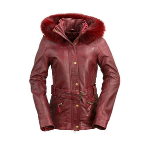 Elle | Woman's Leather Jacket - Stofma  Hub