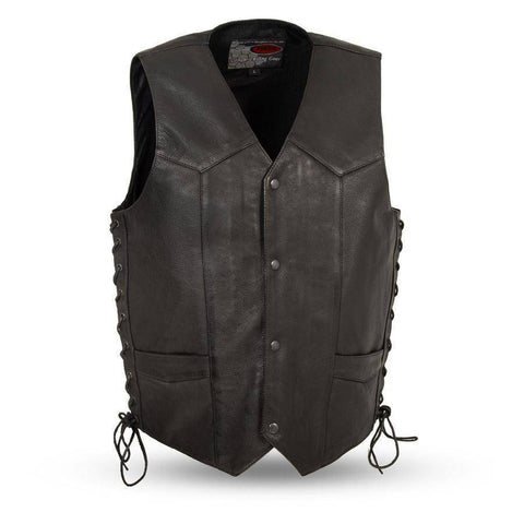 Rancher | Men's 1.2mm Drum Dye Naked Cowhide Leather Vest - Stofma  Hub