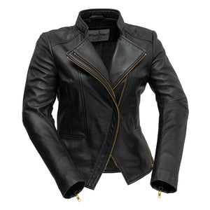 Zoey | Ladies Leather Blazer/Jacket - Stofma  Hub