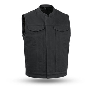 Highland V2 | Men's Motorcycle Canvas Vest - Stofma  Hub