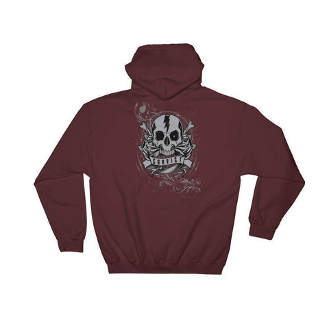 Image of Convict Customz Skull Hoodie Sweatshirt - Stofma  Hub