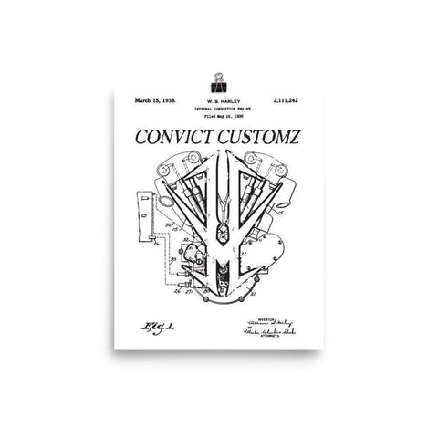 Convict Blueprint Poster - Stofma  Hub