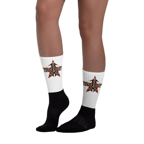 Star Black Socks