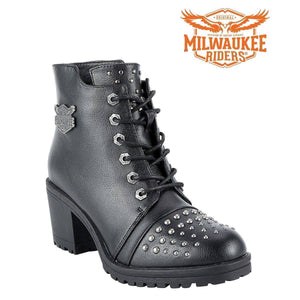 Womens Studded Motorcycle Boots By Milwaukee Riders - Stofma  Hub