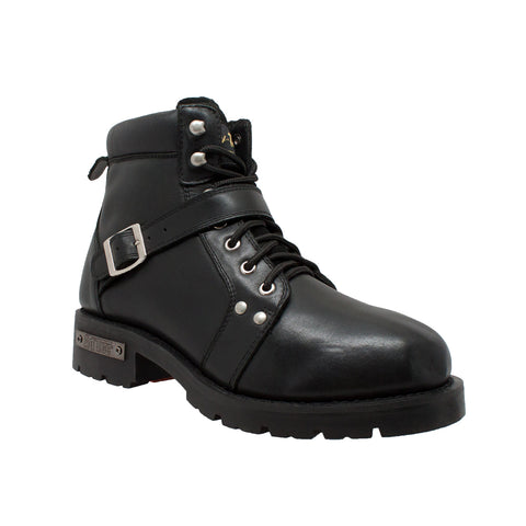 Men's YKK Zipper Biker Boot-Black