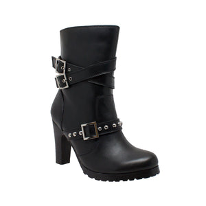 8545 Women's 3-Buckle Boot with Heel - Stofma  Hub